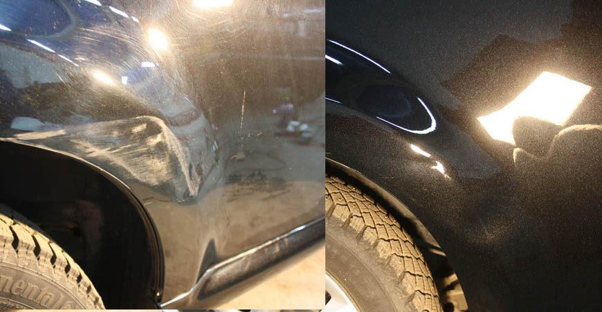 Удаление царапин на кузове без краски